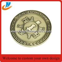 Buy cheap Souvenir coin,challenge military coin with gold silver antique brass plated from wholesalers