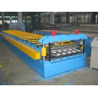 Buy cheap 0.4-0.8mm Thickness Color Aluminum Trapezoidal Corrugated Sheet Roll Forming Machine IBR Type from wholesalers