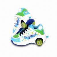 Buy cheap Two Wheel Roller Shoes Preferable for Kids, Made of Dacron Insole and Rubber Out-sole from wholesalers
