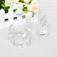 Buy cheap Hnad craft art glass collectable galss hen cute animal clear galss hen figurine from wholesalers