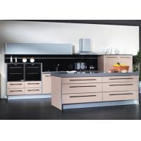 Buy cheap Flat Pack Acrylic Stone Modular PVC Kitchen Cabinets Aluminium Frame With Glass Doors from wholesalers