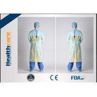 Buy cheap PE / CPE Plastic Disposable Isolation Gowns , Patient Surgical Gowns S-XL Size from wholesalers