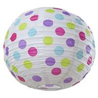Buy cheap Dots Round Paper Lamp Lanterns , 12 Inch Paper Hanging Lanterns For Patriot'S Day from wholesalers