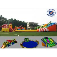 Buy cheap 30m Amazing Inflatable Water Parks Eco-friendly Fire Resistance from wholesalers