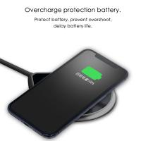 Buy cheap WIRELESS CHARGER PAD smart wireless fast charger for both Android and IOS New design 2018 hot sale from wholesalers