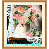 Buy cheap 2017 new style,silk embroidery,Needlework,DIY DMC Cross stitch,Sets For Embroidery kits,fl from wholesalers