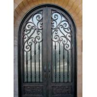 Buy cheap ornamental elegant wrought iron double door from wholesalers