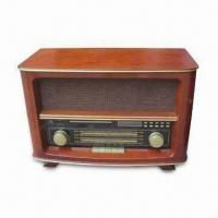 Buy cheap Nostalgic Wooden Radio with AM/FM/CD/MP3/USB/SD/MMC/SW1/SW2, with 30W Power Consumption product