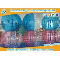 Professional Inflatable Body Bumper Ball Customized With Red / Blue Dots