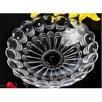 China Eco - Friendly Glass Shallow Tray For Turkey Roast / Glass Fruit Bowl For Cookie on sale