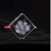 Buy cheap Rose Laser Engraved Crystal,Best Gifts For Your Girlfriend from wholesalers