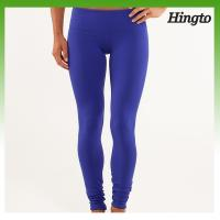 Buy cheap Blue / Black Nylon Hot Yoga Outfits Women , Customized Women Fitness Wear from wholesalers