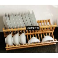 Buy cheap Bamboo Folding Dish Rack bamboo plate holder from wholesalers