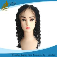 Buy cheap Soft Silky Full Lace Human Hair Wigs Kinky Curly With Natural Baby Hair from wholesalers