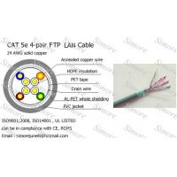 Buy cheap CAT5e FTP LAN Cable for Network,Solid Copper from wholesalers