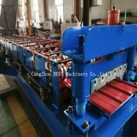 Buy cheap Trapezoidal Metal Sheet Roof Roll Forming Machine PPGI/GI Material With PLC Control from wholesalers