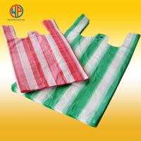 Buy cheap plastic carrier bags/hdpe plastic striped t-shirt bags from wholesalers