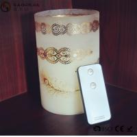 Buy cheap Personalized Party / Event Paraffin Wax Candles In Prinnted Glass Jar from wholesalers