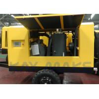 Buy cheap 185 CFM Mobile Diesel Air Compressor , Tow Behind Air Compressor For Mining from wholesalers