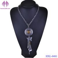Buy cheap Fashion Jewelry Bohemia Ethnic Style Long Tassel Pendant Chain Necklace For Women from wholesalers
