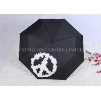 Buy cheap Manual Open Windproof Folding Umbrella Color Change Umbrella Tri Fold product