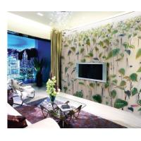 Buy cheap Tempered Laminated Decorative Glass Panel With Leaf Design For Sliding Door from wholesalers