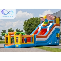 Buy cheap 6.5m Beach Water Jumping 4 In 1 Inflatable Water Slides product