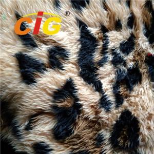 Buy cheap 100% Polyester Colorful Faux Fur Fabric Tricot Plain Fabirc Width 160cm product
