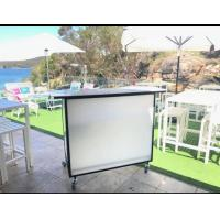Buy cheap Juice Mobile Bar Counter With Ice Bin / Wine Rack Folding For Weddding Events from wholesalers