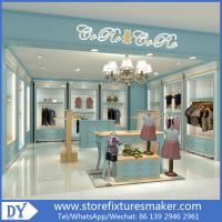 Buy cheap Custom nice fashion  design wooden lacquer Childrens Clothing Stores display showcase furniture  with good price from wholesalers
