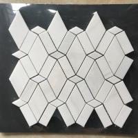 Buy cheap White Diamond Dolomite Nature Stone Mosaic Tile For Kitchen Backsplash from wholesalers