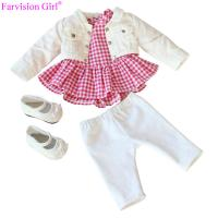 Buy cheap American girl fashion set doll clothes acceossories 18 inch pink toy cloth custom gift from wholesalers