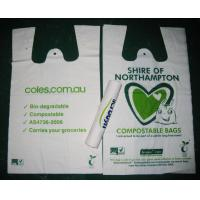 Buy cheap White Biodegradable Shopping Bags Offset Printing T-Shirt Bag from wholesalers