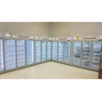 Buy cheap Vertical Glass Door Display Freezer With Dynamic Cooling / Refrigerated Meat Display Showcase from wholesalers