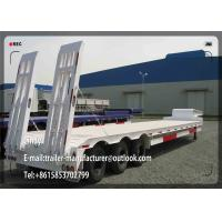 Buy cheap Hydraulic 3 Axles Low Bed Semi Trailer / 60 ton lowboy trailer from wholesalers
