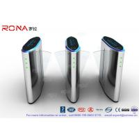 Buy cheap IP54 Anti - Breakthrough Flap Turnstile Speed Automatic Gates Barcode System With Bule Light product