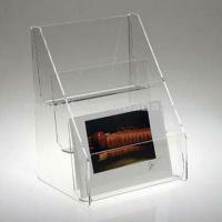 Buy cheap Counter Top Public Clear 3mm Acrylic Display Holders for Leaflet Poster product