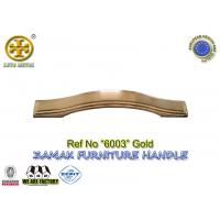Buy cheap Spec 96/128/160mm  No 6003 metal cabinet pull zinc furniture hardware gold color from wholesalers