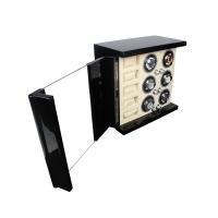 Buy cheap Pure black Piano Lacquer Wood Watch Winder Box Pure black Watch Winder for Sale Custom Watch Winder Suppliers from wholesalers