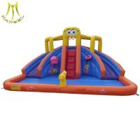 Buy cheap Hansel bouncer house kids inflatable toy slide with blower for mall wholesale from wholesalers