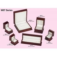 Buy cheap Red Wood Gift Jewelry Packaging Box, Glossy Painting Personalized Jewellery Boxes product