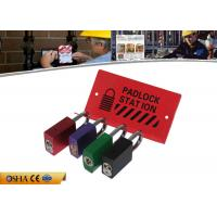 Buy cheap Durable Steel Material 282g Red Lockout Station Hold 10 Pieces Padlocks from wholesalers