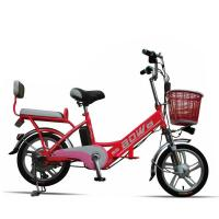 Buy cheap Red Hybrid Lithium Bicycle Steel Frame Easy Bike Electric Bike 35Km - 40 Km from wholesalers