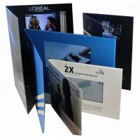 Buy cheap 2.4 inch Full colors Video Greeting Card with rechargeable battery , 2G  memory from wholesalers