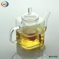 Buy cheap 500ml square heat resistant teapots from wholesalers