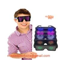 Buy cheap LED Flashing Luminous/Fluorescent Colorful Shutter Party Night Club Glasses Or Lenses In Transparent Fashional Light Fra from wholesalers