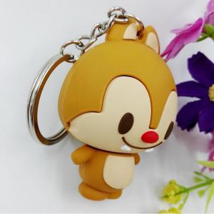 China Cheap Custom Cartoon Animal Shaped 3d Soft PVC Keychain / 3d Rubber Keychain OEM on sale
