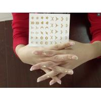 Buy cheap Gold and Silver Nail Temporary Tattoo Sticker , Hand Tattoo sticker from wholesalers