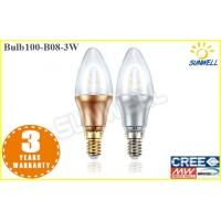 Buy cheap Office Led Candle Lamps Warm White Cool White Gold / Silver Bulb from wholesalers
