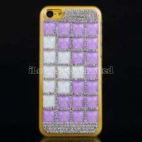 Buy cheap Square Gem Rhinestone Hard Case For iPhone 5C from wholesalers